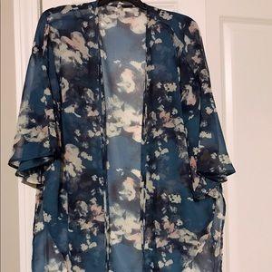 Tops - Floral Kimono - Size Small